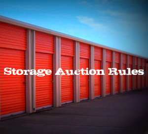 Post image for Storage Auction Rules