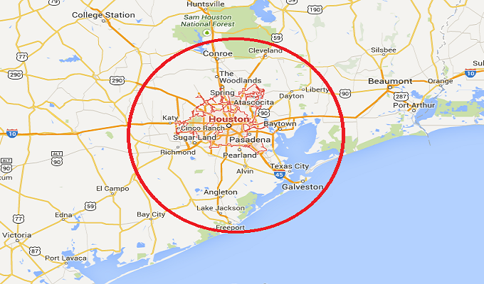 Houston Coverage Area