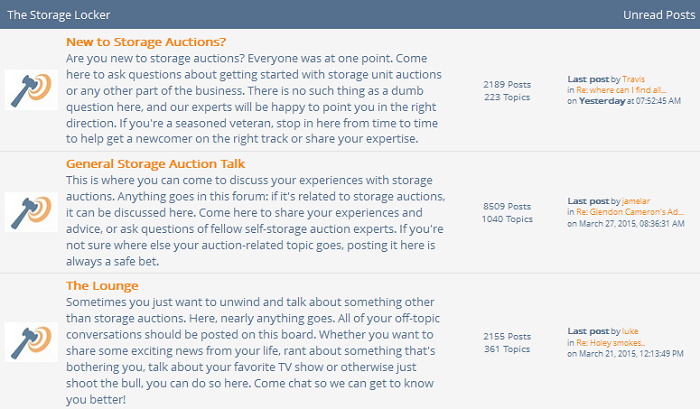 Storage Auction Forum