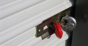 Storage Unit Red Lock
